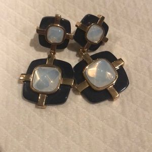 Tory Burch navy and blue earrings